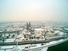 Luftaufnahme, Blick auf Magdeburg mit Dom. | Rechte: MDR/Hanns-Georg Unger