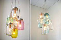 Mason Jar lights.... Love this!