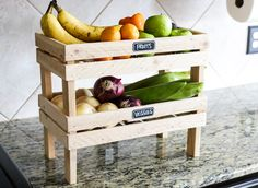Learn how to build a DIY divided mail organizer and stackable fruit and veggie crate at The Pinners Conference in Dallas, TX. DIY Workshop by Jen Woodhouse.
