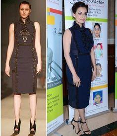 Dia Mirza in Pankaj and Nidhi Outfit