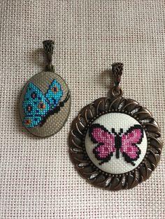 Tiny Cross Stitch, Butterfly Cross Stitch, Cross Stitch Needles, Cross Stitch Alphabet, Learn Embroidery, Embroidery Jewelry, Cross Stitch Embroidery, Hand Embroidery, Cross Stitch Patterns