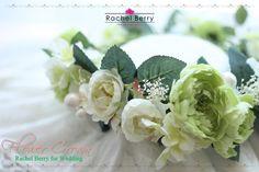 *New Design* Artificial Flower Crownラナンキュラスと小振りローズの花冠 |Rachel Berry the Secret Attic