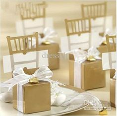 Wholesale Gold Chair Candy Box Boxes Wedding Favor Gift Hot Bridal Gifts Favors, $0.32-0.34/Piece | DHgate