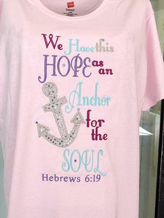 A t-shirt I had made by Stephanie of Stitchcottage Love it !! Great job, great message :) HEB. 619 Bible Verse T shirt by stitchcottage on Etsy, $27.00