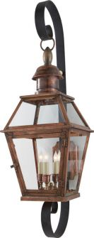 Chart House Pimlico Medium Scroll Arm Lantern in Natural Copper by Visual Comfort Circa Lighting, Pendant Lighting, Outdoor Sconces, Outdoor Lighting, Copper Prices, Chart House, Visual Comfort Lighting, Wall Lantern, Lighting Design