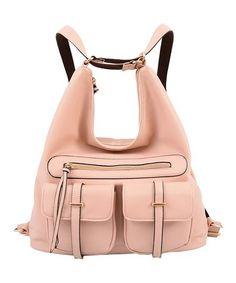 Take a look at this Pink Convertible Penelope Hobo Backpack on zulily today!