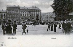 Christiania tidlig 1900-tall. Stortorget Foto: P. Alstrup