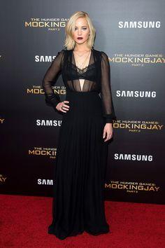 Jennifer Lawrence Wears Sheer Black Schiaparelli Dress-Wmag