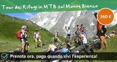 Tour dei Rifugi in Mountain Bike sul Monte Bianco Luogo: Valle d'Aosta, Courmayeur (AO). Prenota ora: http://www.bookingsport.it/valle-d-aosta-r16/mountain-bike-s48/tour-dei-rifugi-in-mountain-bike-sul-monte-bianco-pr93.aspx