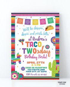Invitation App, Digital Invitations, Printable Invitations, Invite, Personalized Banners, Personalized Invitations, Twin Birthday, Taco, Fiestas