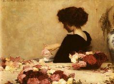 Herbert James Draper, 1864-1920.  Pot Pourri  1897  Oil on canvas, 51 x 68.5cm  Tate Gallery, London