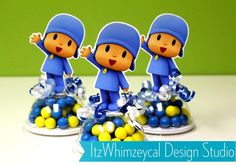 Pocoyo Inspired Candy Favor Containers by itzwhimzeycal on Etsy