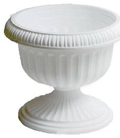 Special Offers - Att Southern UR1810WH 18-Inch White Grecian Urn Planter  Quantity 10 - In stock & Free Shipping. You can save more money! Check It (May 09 2016 at 05:58AM) >> http://herbgardenplanters.net/att-southern-ur1810wh-18-inch-white-grecian-urn-planter-quantity-10/
