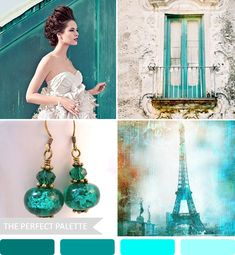 Party Palette | Teal Tones http://www.theperfectpalette.com/2013/05/party-palette-teal-tones.html