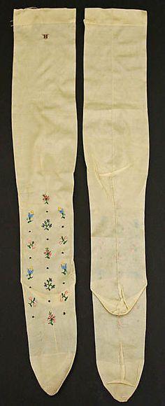 19th Century Stockings  Culture: French  Medium: silk
