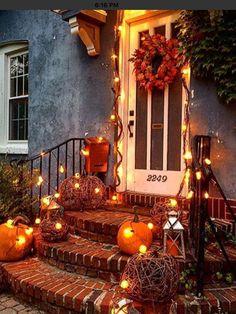 Autumn porch Fall, Crafts, Photography, Painting, Beautiful, Home Decor, Pumpkin, Autumn, Fotografie