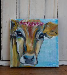 A cow named 'Brigitte' by JJHowardFineArt on Etsy