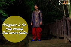 We are NOW OPEN at Satellite too !  Be the king on your nuptial day with our Indo-western sherwani :)  Drop by us TODAY at Steel All Male for range of ethnic wear inspirations.  #SteelAllMale #Menswear #Clothing #Store #Sherwani #Wedding #India #IndianWeddings #IndoWestern #Satellite #Ahmedabad #DulhaCollection #WeddingBells