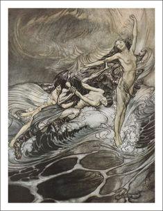 Ilustraciones de El anillo del Nibelungo por Arthur Rackham