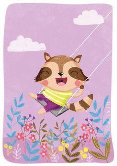 Coco Gigi Design: Raccoon in swing