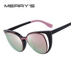 14.99$  Watch here - http://visyp.justgood.pw/vig/item.php?t=kckox05138 - Fashion Sunglasses Cat Eye Women Brand Designer Retro Pierced Female Black Pink