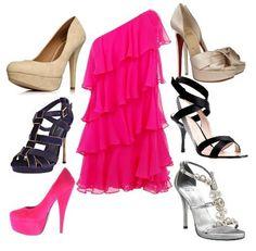 Cómo combinar... un vestido corto fucsia   Preparar tu boda es facilisimo.com