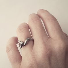 Fennec Fox Ring in Sterling Silver by Folkloriikka on Etsy