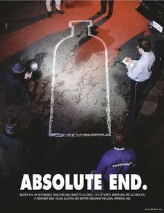 Absolut Vodka Ads - Absolute End Ads Creative, Creative Advertising, Advertising Poster, Advertising Campaign, Advertising Ideas, Creative Director, Absolut Vodka, Saul Bass, Adbusters Magazine