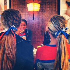 Love this for volleyball hair!I'm feeling kinda bad for the girl with the french fry that accidentally photobombed x'D Cool volleyball hair Cute Volleyball Hairstyles, Sporty Hairstyles, Ponytail Hairstyles, Pretty Hairstyles, Girl Hairstyles, Cute Cheer Hairstyles, Glamorous Hairstyles, Athletic Hairstyles, Princess Hairstyles