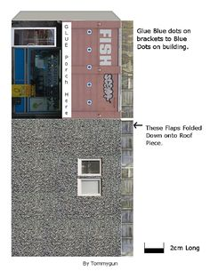 Blue Building, Building A House, Paper Toys, Paper Crafts, Toy Garage, Free Paper Models, Paper Houses, Toy Boxes, Model Homes