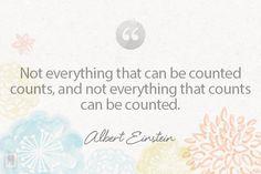 Einstein on What Counts//
