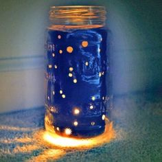 Easy Sumer Craft: How to Make a Stargazing Jar