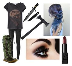 """Zombie Apocalypse"" by thedaysareadeathwish on Polyvore featuring Off-White, Pajar, Estwing and NARS Cosmetics"