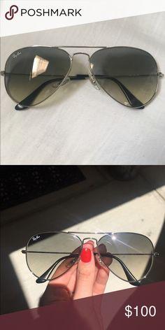 f3e58183dd8e0 rayban aviators rayban aviators with light grey gradient lenses and silver  frames. pilot shape.