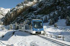 tren a l'hivern, invierno, winter