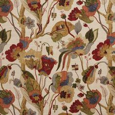 G P & J Baker California-Red / Cream Decor Drapery Fabric - Patio Lane Drapery Fabric, Fabric Decor, Linen Fabric, Fabric Design, Curtains Made Simple, Gp&j Baker, Shades Of Beige, Fabric Houses, Fabulous Fabrics