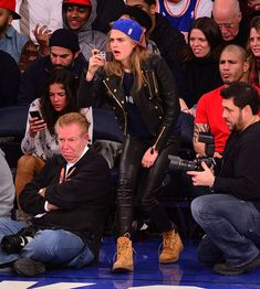 Cara Delevingne And Michelle Rodriguez Went To A Basketball Game, Got Messy Drunk And Made Out A Little - Cosmopolitan.com 8