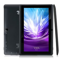 Dragon Touch Y88X Plus 7'' Quad Core Google Android 4.4 KitKat Tablet PC, IPS Display, HD Screen 1024 x 600, 8 GB, Bluetooth, Dual Camera, Netflix, Skype, 3D Game Supported - Graphite Black - An Enhanced Version Following the Y88 and Y88X model, here comes the 3rd Generation, Y88X Plus. This tablet equips with new features like IPS display, Bluetooth, and higher megapixel camera, making sharing and communication a breeze. Additionally, there are new gorgeous colors for your..