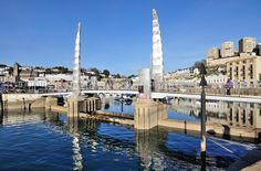 Blue sky at Torquay Bridge and Harbour - Torbay