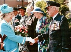 Air Cdre Sismore pictured in his later years meeting the Queen. After a long and successfu...