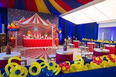 Festinha de aniversário - decoração tema circo ( Foto: Nattan Carvalho )