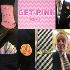 One day a month on FOX 25 we #GetPink to remind women to get checked for #BreastCancer .  #MitchSocks #socks #sockswag #sotd #ootd #style #dapper #dappermen #dapperstyle #gentleman  #sockporn #instasocks #socksoftheday #television #tv #okc #RockForth  #andso ...and so.