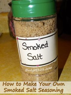 MYO Smoked Salt How to Make Flavored Salt MYO Salt Blends is part of Seasoning recipes - MYO fabulous Smoked Salt seasoning to give grilled meats and veggies that Smoked flavor without the expense and time of actually Smoking them Homemade Spices, Homemade Seasonings, Homemade Recipe, Homemade Dry Mixes, Spice Blends, Spice Mixes, Cuisines Diy, Rub Recipes, Milk Recipes