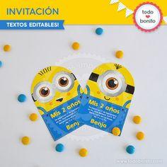 Minions: invitación para imprimir