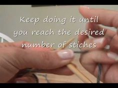 Knitting: how to cast on stitches with circular needles.