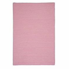 """Simply Home Solid Light Pink Braided Rug Rug Size: 6' x 9' by Colonial Mills. $404.26. H051R072X108S Rug Size: 6' x 9' Features: -Technique: Braided.-Material: 100pct Polypropylene.-Origin: USA.-Reversible.-Stain resistant.-Fade resistant. Construction: -Construction: Hand guided. Dimensions: -Pile height: 0.5"""".-Overall Dimensions: 34-168'' Height x 22-132'' Width x 0.5'' Depth. Collection: -Collection: Simply Home Solid."""
