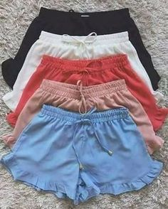 Luxury lingerie e Intimo Cute Lazy Outfits, Short Outfits, Trendy Outfits, Summer Outfits, Girls Fashion Clothes, Teen Fashion Outfits, Girl Fashion, Cute Shorts, Lounge Wear