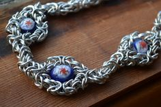 New to AthenasArmoury on Etsy: Aeracura Flower Goddess Beaded Chain Maille Choker Necklace (34.00 USD)