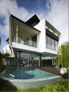 Жилой дом13 Cove Grove от Aamer архитекторов