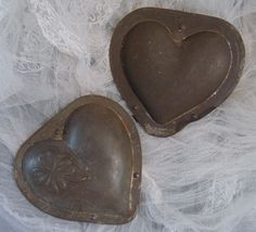 ANTIQUE CHOCOLATE MOLD MOULD SIGNED AND NUMBERED Large Heart shaped
